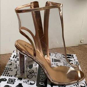 Gold Heels. New! Never worn!
